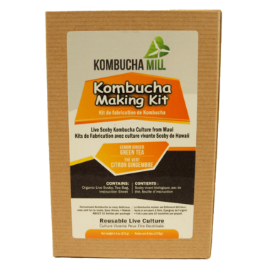 Kombucha Mill Kombucha Making Kit Lemon Ginger Tea