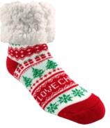 Pudus Slipper Sock I love Christmas