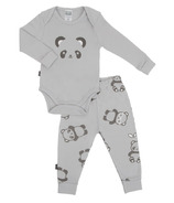 Kushies Long Sleeve Bodysuit & Pant Set Grey