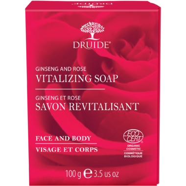 Druide Vitalizing Ginseng & Rose Bar Soap