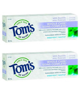 Tom's of Maine Whole Care Fluoride Peppermint Toothpaste Bundle