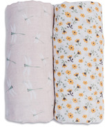 Lulujo Cotton Swaddles Vintage Floral Dragonfly