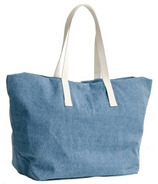 Baggu Weekend Bag in Washed Denim