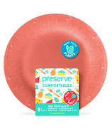 Preserve Compostables Small Plates Red