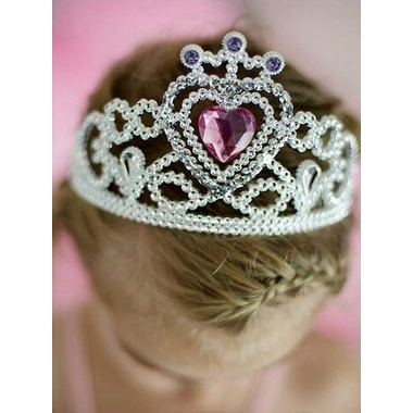 Great Pretenders Glitter Heart Tiara and Wand Set