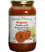 Simply Natural Organic Tomato With Roasted Garlic Pasta Sauce