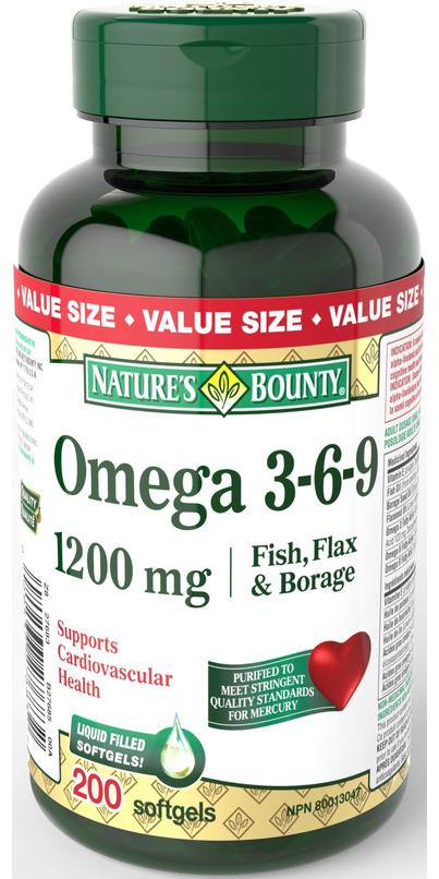 Buy Nature S Bounty Omega 3 6 9 Fish Flax Borage At Well Ca