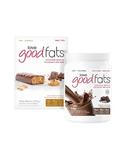 Love Good Fats Chocolate Shake + Peanut Butter Chocolatey Snack Bar Bundle