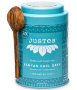 JusTea Thé noir à feuilles mobiles Kenyan Earl Grey