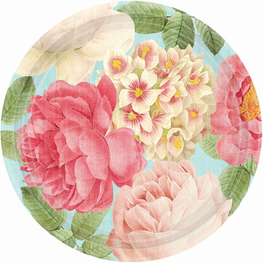 Blissful Blooms Round Paper Plates