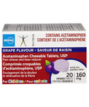 atoma Acetaminophen Chewable Tablets for Children Grape Flavour