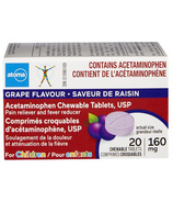atoma Acetaminophen Chewable Tablets for Children Grape Flavour