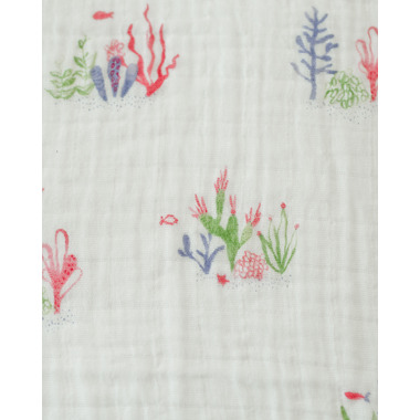 Little Unicorn Cotton Muslin Swaddle Blanket Sea Floor