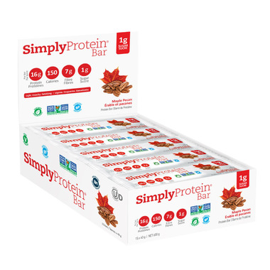 Simply Protein Bar Maple Pecan Case