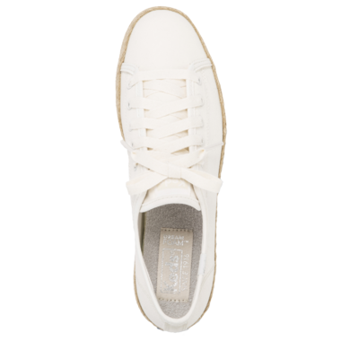 Keds Women\'s Triple Kick Canvas Jute Platform Sneaker White