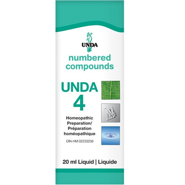 UNDA Numbered Compounds UNDA 4 Homeopathic Preparation