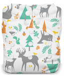 Thirsties Natural One Size All In One Snap Woodland