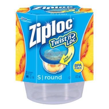 Ziploc Twist \'N Loc Small Round Containers
