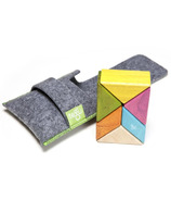 Tegu Pocket Pouch Prism Magnetic Wooden Block Set Tints