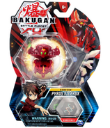 Bakugan Pyrus Vicerox Collectible Action Figure and Trading Card