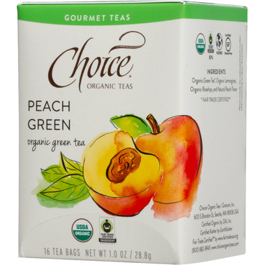 Choice Organic Teas Peach Green Tea
