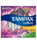 Tampax Radiant Duo Pack Plastic Tampons