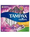 Tampax Radiant Duo Pack Plastic Tampons