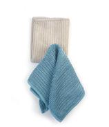 RSVP Microfiber Dish Cloth Turquoise + Taupe