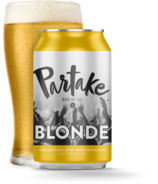Partake Brewing Blonde Nonalcoholic Craft Beer
