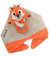 Malarkey Kids Buddy Bib 3-in-1 Sensory Teething Toy & Bib Fox