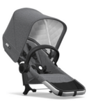 Bugaboo Donkey2 Classic Duo Extension Complete Aluminum & Grey Melange