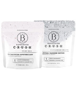 Bathorium CRUSH Charcoal Garden & Eucalyptus Apothecary Bath Soak Duo Pack