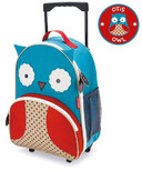 Skip Hop Zoo Kids Rolling Luggage Bag Owl