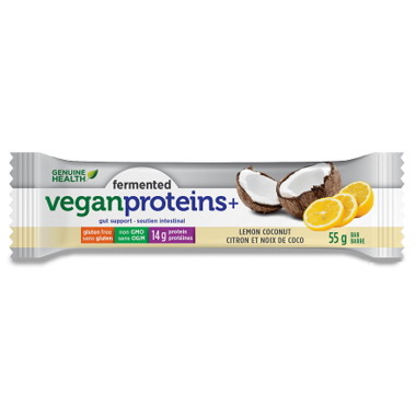 Genuine Health Fermented Vegan Proteins+ Bars Lemon Coconut