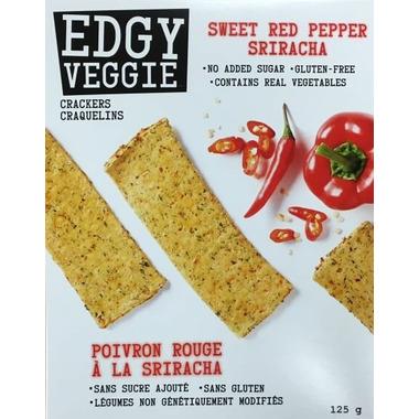 Edgy Veggie Crackers Sweet Red Pepper Sriracha