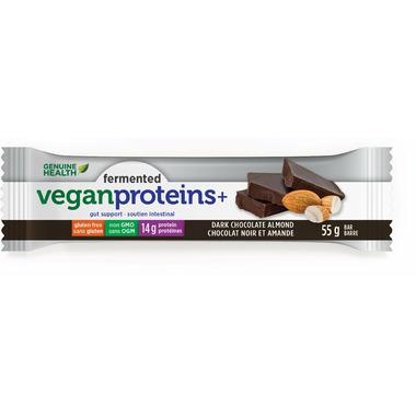 Genuine Health Fermented Vegan Proteins+ Dark Chocolate Almond Bars