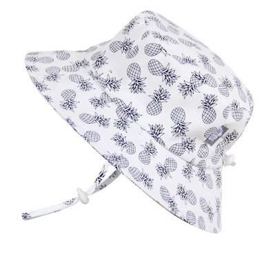 Twinklebelle Grow-With-Me Bucket Sun Hat White Pineapple