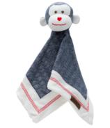 Doudou singe en coton organique Cottage Collection de Juddlies bleu
