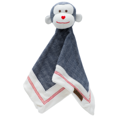 Juddlies Cottage Collection Organic Lovey Monkey Lake Blue