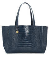 ela Large Tote Croc Effect Navy