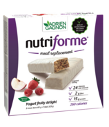 Adrien Gagnon Nutriforme Meal Replacement Bars Yogurt Fruity Delight