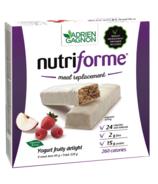 Adrien Gagnon Nutriforme Meal Replacement Bars Yogurt Fruity Delight