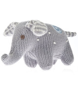 Beba Bean Knit Elephant Rattle Grey Polka Dot