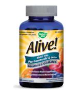 Nature's Way Alive! Mens's 50+ Gummies MultiVitamin & Mineral Supplement