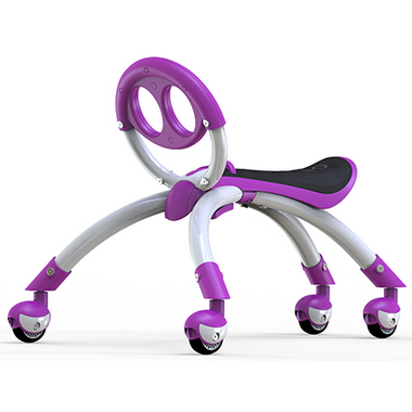 YBike Pewi Elite Ride-On Toy and Walking Buddy Purple