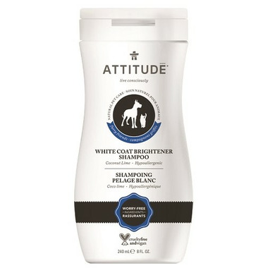 ATTITUDE Furry Friends White Coat Brightener Pet Shampoo Coco Lime