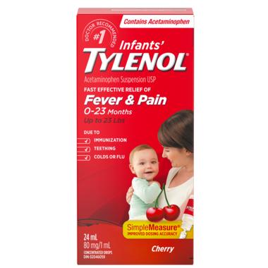 Tylenol Infants\' Fever & Pain Suspension Drops Cherry