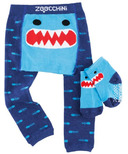 Zoocchini Comfort Crawler Legging & Socks Set Sherman The Shark