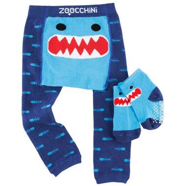 ZOOCCHINI Comfort Crawler Legging & Socks Set Sherman The Shark