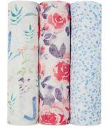 aden+anais Silky Soft Swaddles Watercolor Garden